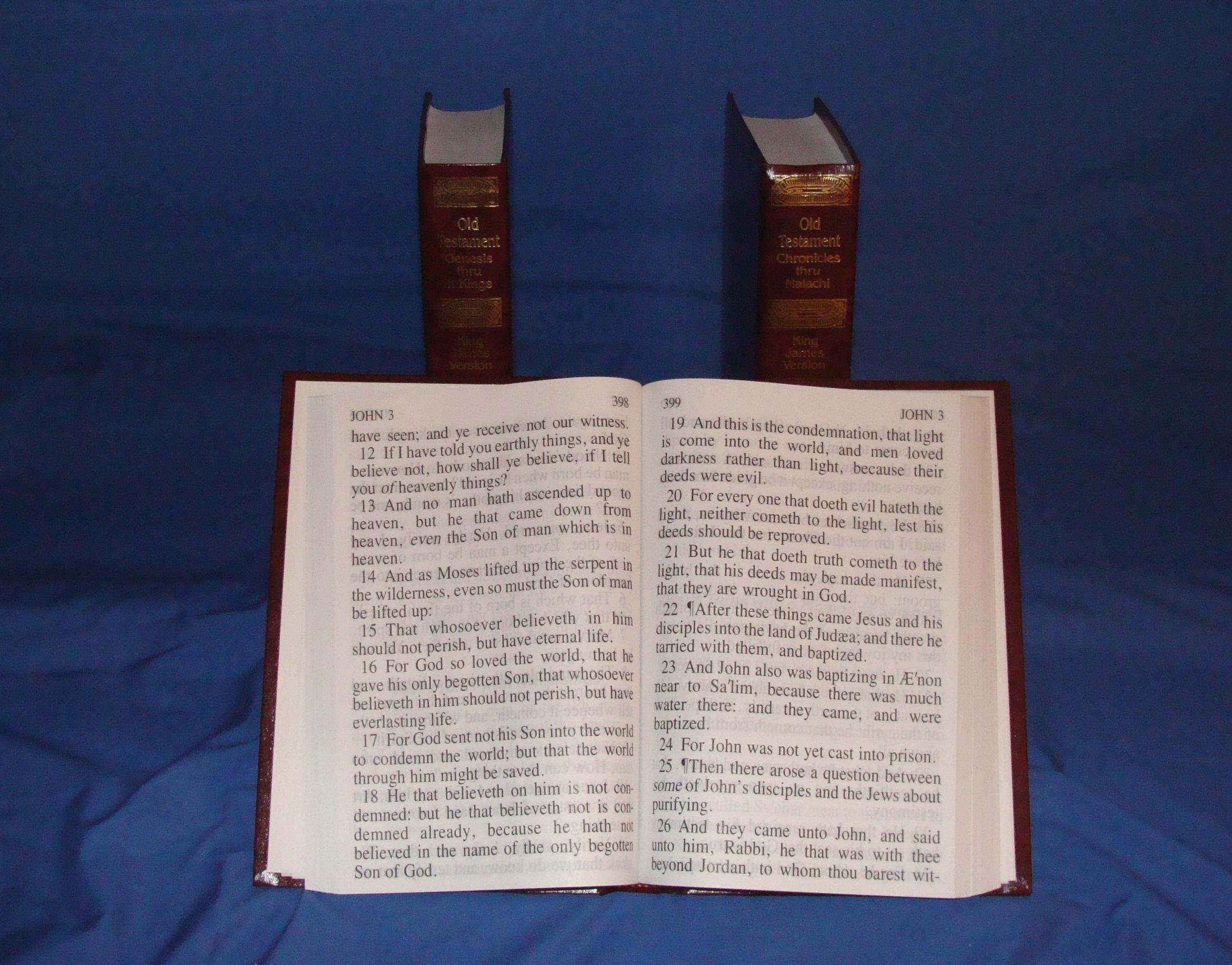 3 volume 24 point print Bible