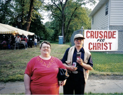 Missionary ken & ruth Soul Winning at a crusade for christ event